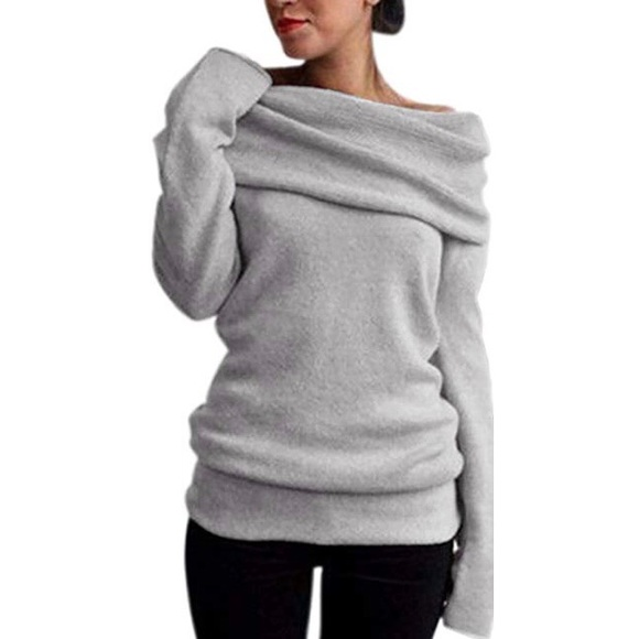 Sweaters Nwt Womens Off Shoulder Cowl Neck Knit Sweater Poshmark